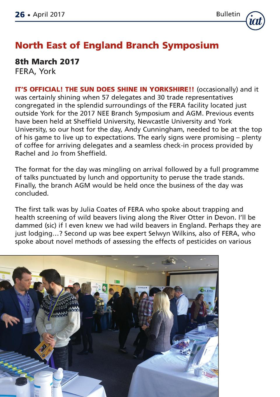 Apr17_3-720311940.e S IATB NEW  26     April 2017  13 4 17  08 06  Page 26  Bulletin  North East of England Branch Symposi...