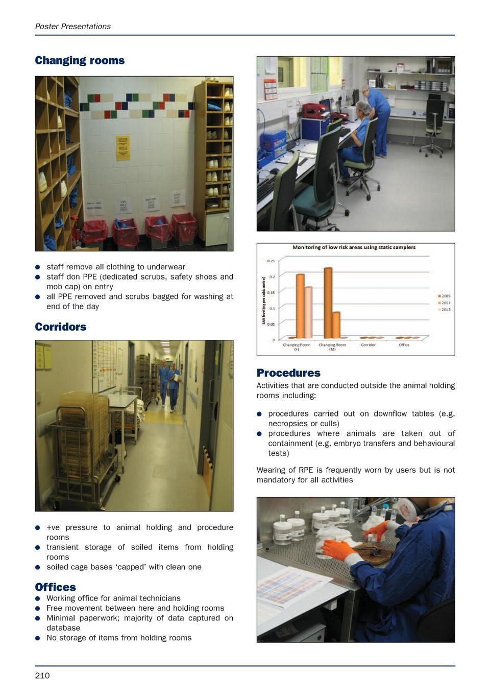 Poster Presentations  Changing rooms  G G G  staff remove all clothing to underwear staff don PPE  dedicated scrubs, safet...