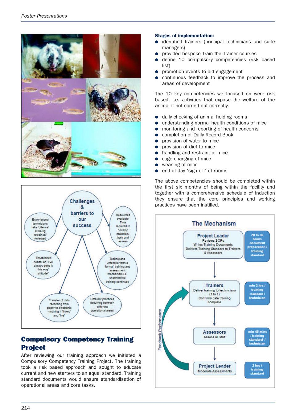 Poster Presentations  Stages of implementation  G identified trainers  principal technicians and suite managers  G provide...