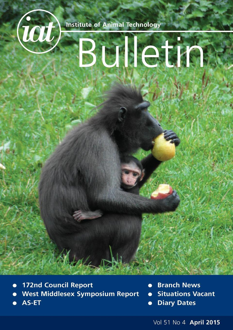 Institute of Animal Technology  Bulletin  G G G  172nd Council Report West Middlesex Symposium Report AS-ET  G G G  Branch...