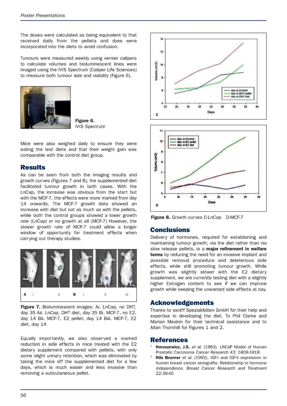 Poster Presentations  The doses were calculated as being equivalent to that received daily from the pellets and dyes were ...