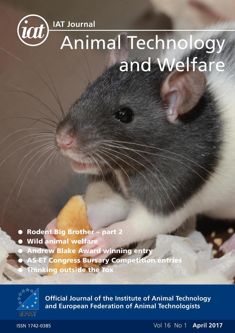 IAT Journal  Animal Technology and Welfare    Rodent Big Brother     part 2   Wild animal welfare    Andrew Blake Award wi...