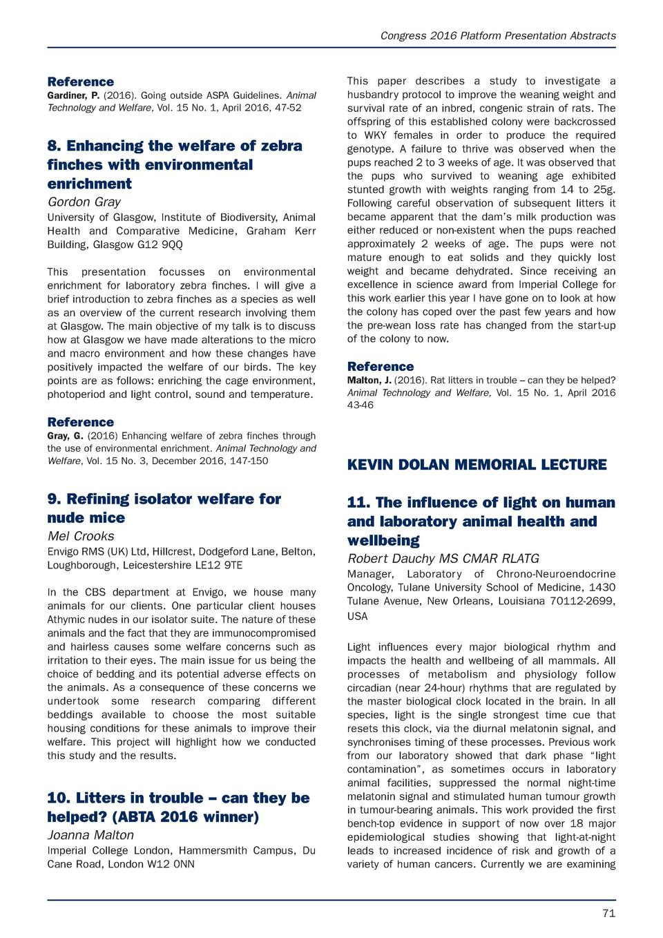APRIL latest.e S Animal Technology and Welfare  9 3 17  07 54  Page 71  Congress 2016 Platform Presentation Abstracts  Ref...