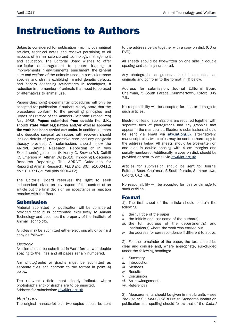 APRIL latest.e S Animal Technology and Welfare  9 3 17  07 54  Page 77  April 2017  Animal Technology and Welfare  Instruc...