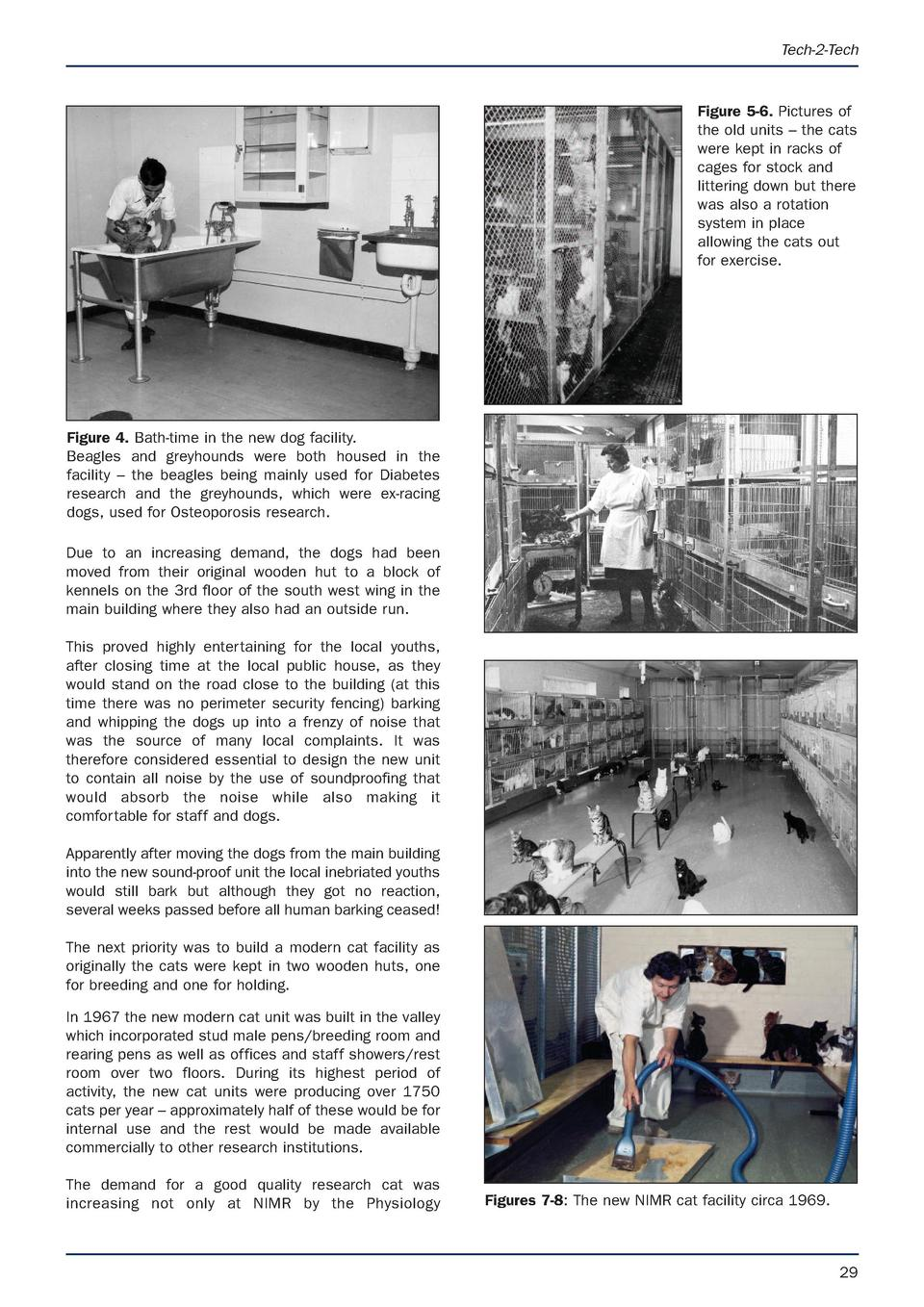 Tech-2-Tech  Figure 5-6. Pictures of the old units     the cats were kept in racks of cages for stock and littering down b...
