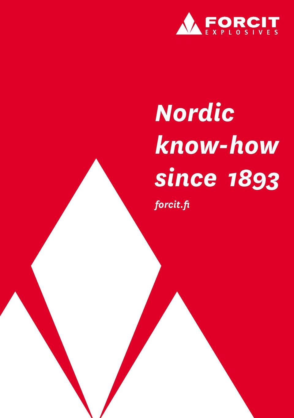 Nordic know-how since 1893 forcit.fi