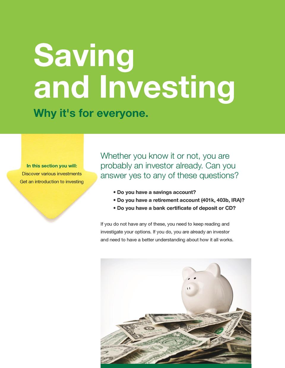 Money management made easy simplebooklet saving investing and investing why it s for everyone why it s for everyone xflitez Image collections