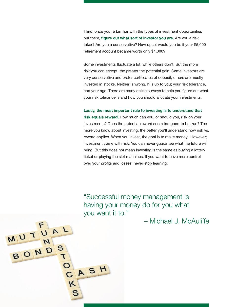 Money management made easy simplebooklet third once you re familiar with the types of investment opportunities out there figure 1betcityfo Images