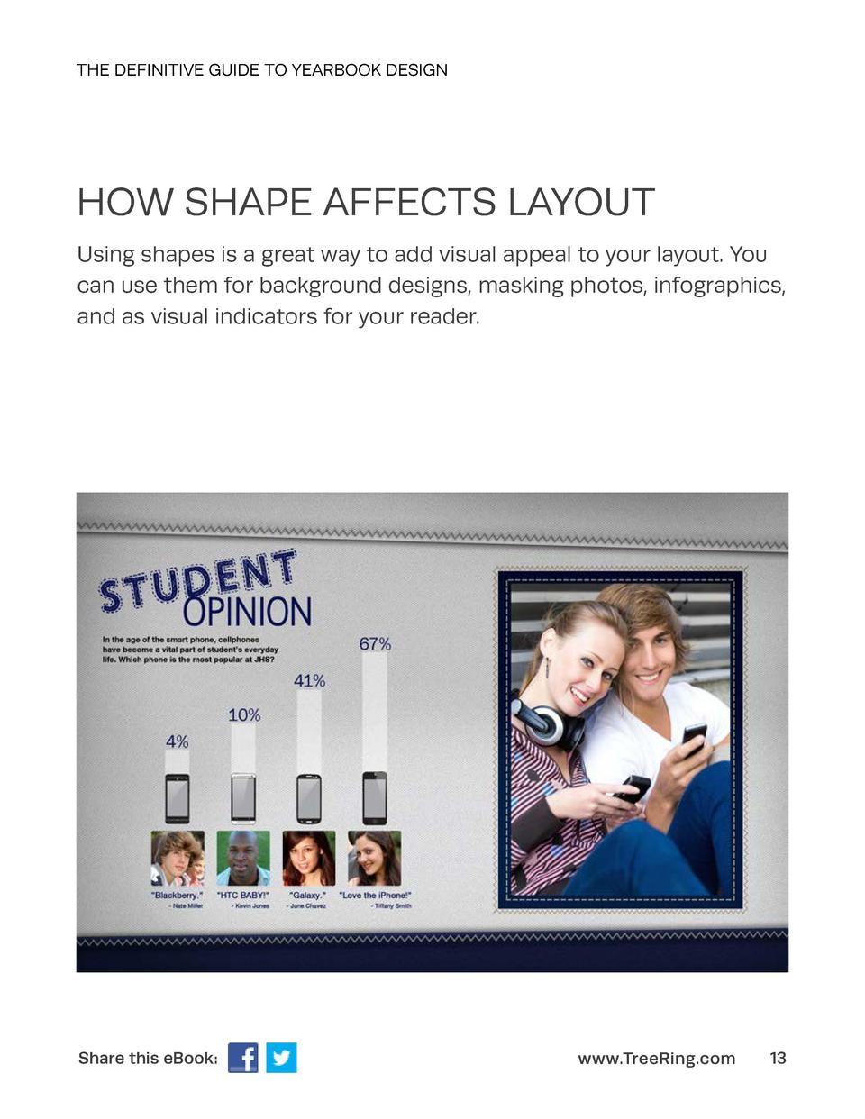 THE DEFINITIVE GUIDE TO YEARBOOK DESIGN  HOW SHAPE AFFECTS LAYOUT Using shapes is a great way to add visual appeal to your...