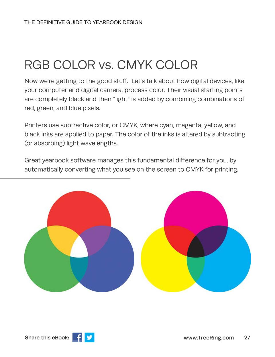 THE DEFINITIVE GUIDE TO YEARBOOK DESIGN  RGB COLOR vs. CMYK COLOR Now we   re getting to the good stuff. Let   s talk abou...