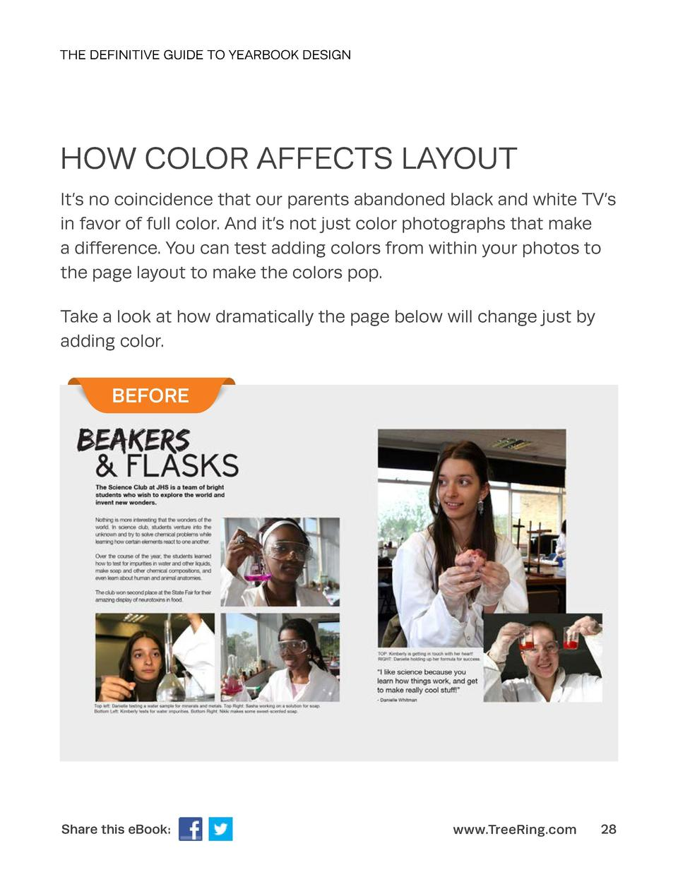 THE DEFINITIVE GUIDE TO YEARBOOK DESIGN  HOW COLOR AFFECTS LAYOUT It   s no coincidence that our parents abandoned black a...