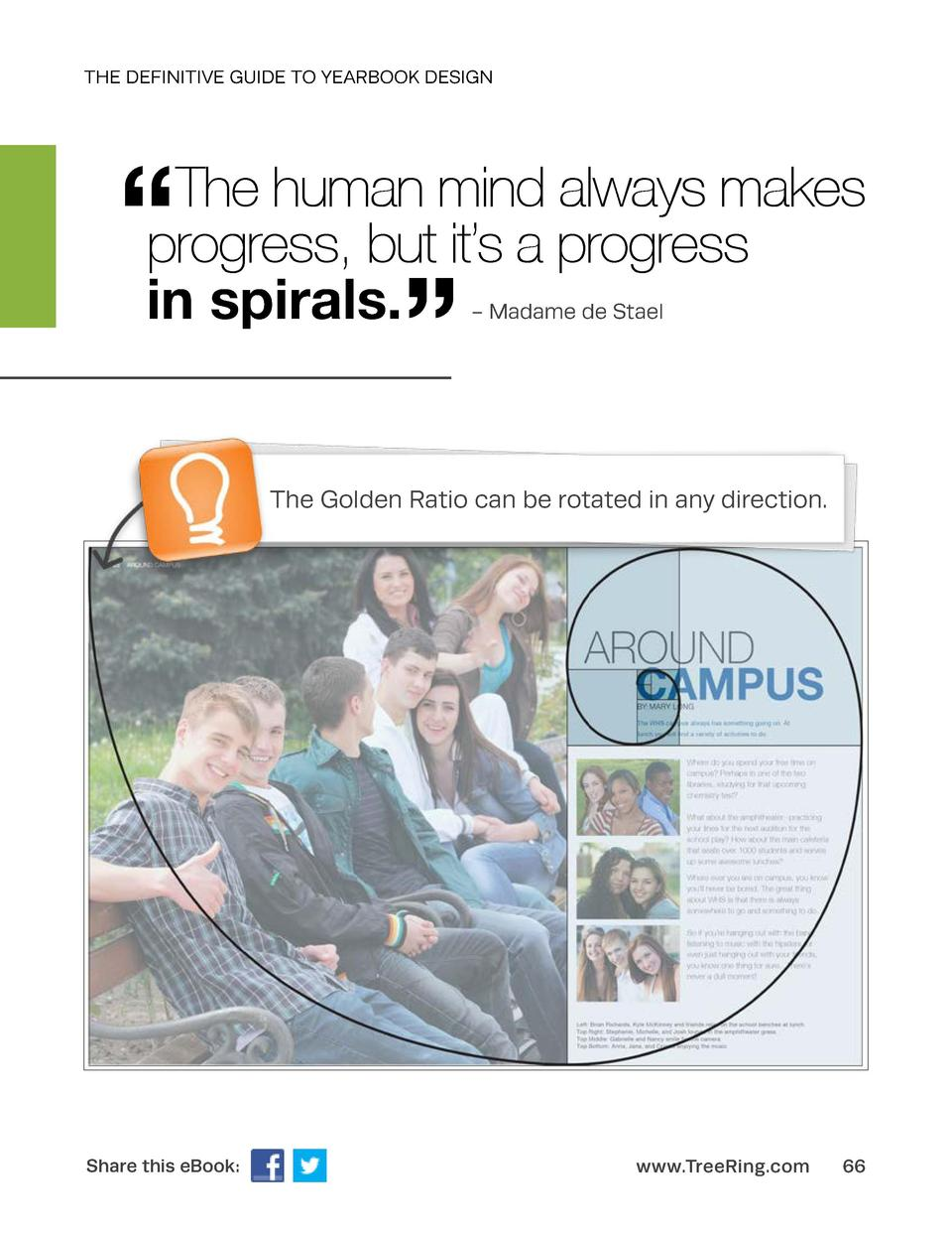 THE DEFINITIVE GUIDE TO YEARBOOK DESIGN       The human mind always makes progress, but it   s a progress in spirals.     ...