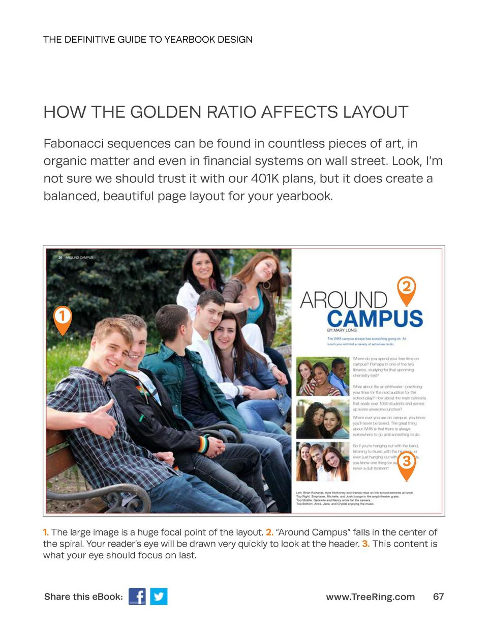 THE DEFINITIVE GUIDE TO YEARBOOK DESIGN  HOW THE GOLDEN RATIO AFFECTS LAYOUT Fabonacci sequences can be found in countless...