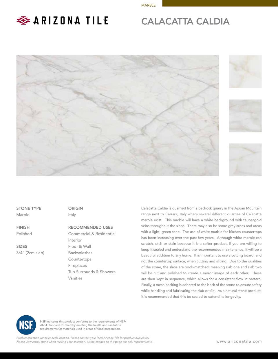 MARBLE  Calacatta Caldia  STONE TYPE  ORIGIN  Calacatta Caldia is quarried from a bedrock quarry in the Apuan Mountain  Ma...