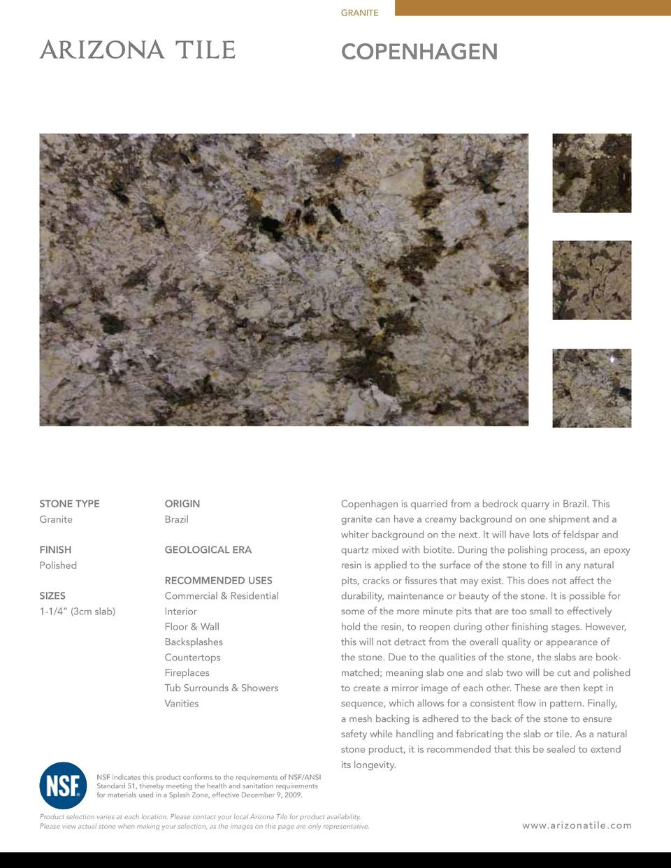 GRANITE  COPENHAGEN  STONE TYPE  ORIGIN  Copenhagen is quarried from a bedrock quarry in Brazil. This  Granite  Brazil  gr...