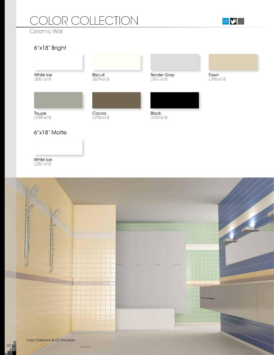 Roca tile 2015 catalog simplebooklet color collection l5 ceramic wall 6 x18 bright 41 4 x10 bright taupe u789 618 dailygadgetfo Images