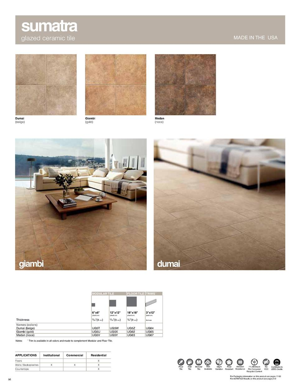 MADE IN THE USA  sumatra glazed ceramic tile  Dumai  beige   MADE IN THE USA  Giambi  gold   Medan  noce   giambi  dumai  ...