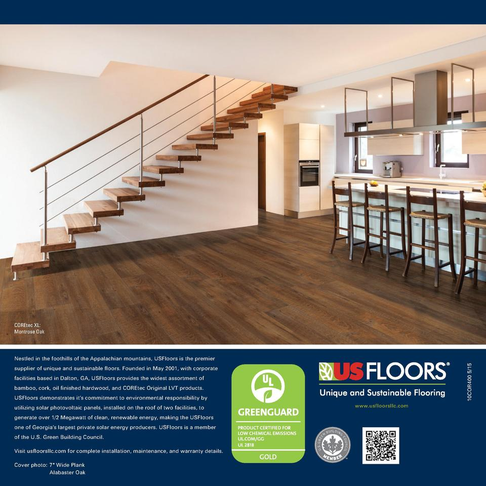COREtec XL  Montrose Oak  10COR400 5 15  Nestled in the foothills of the Appalachian mountains, USFloors is the premier su...