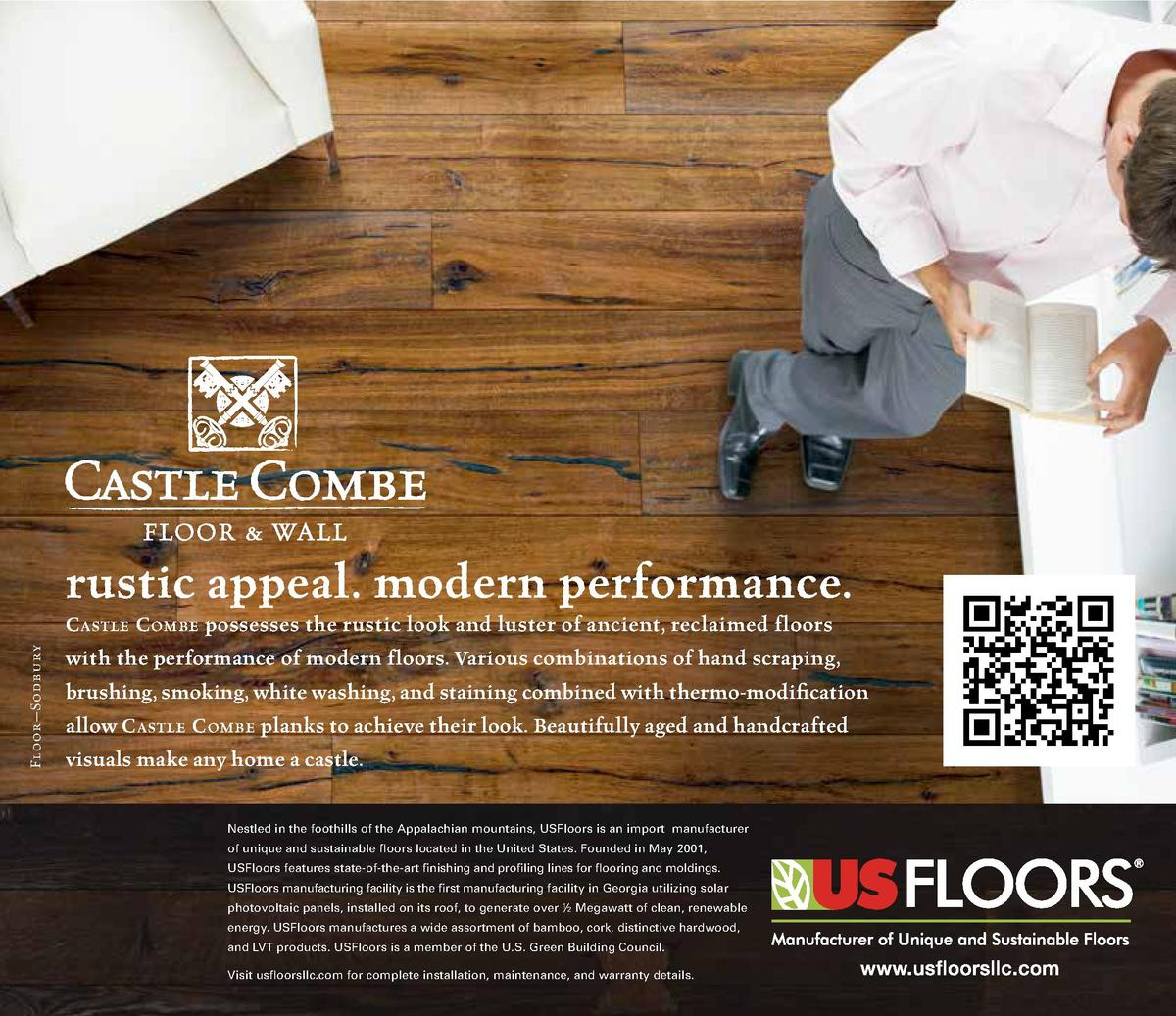 rustic appeal. modern performance. Floor   Sodbury  C astle C ombe possesses the rustic look and luster of ancient, reclai...