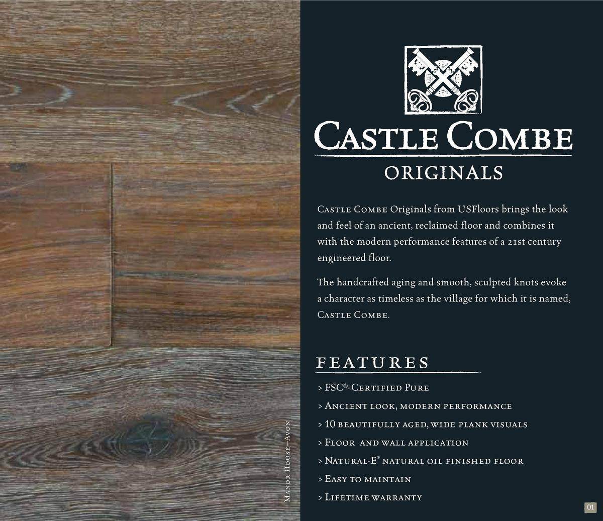 Castle Combe Originals from USFloors brings the look and feel of an ancient, reclaimed floor and combines it with the mode...