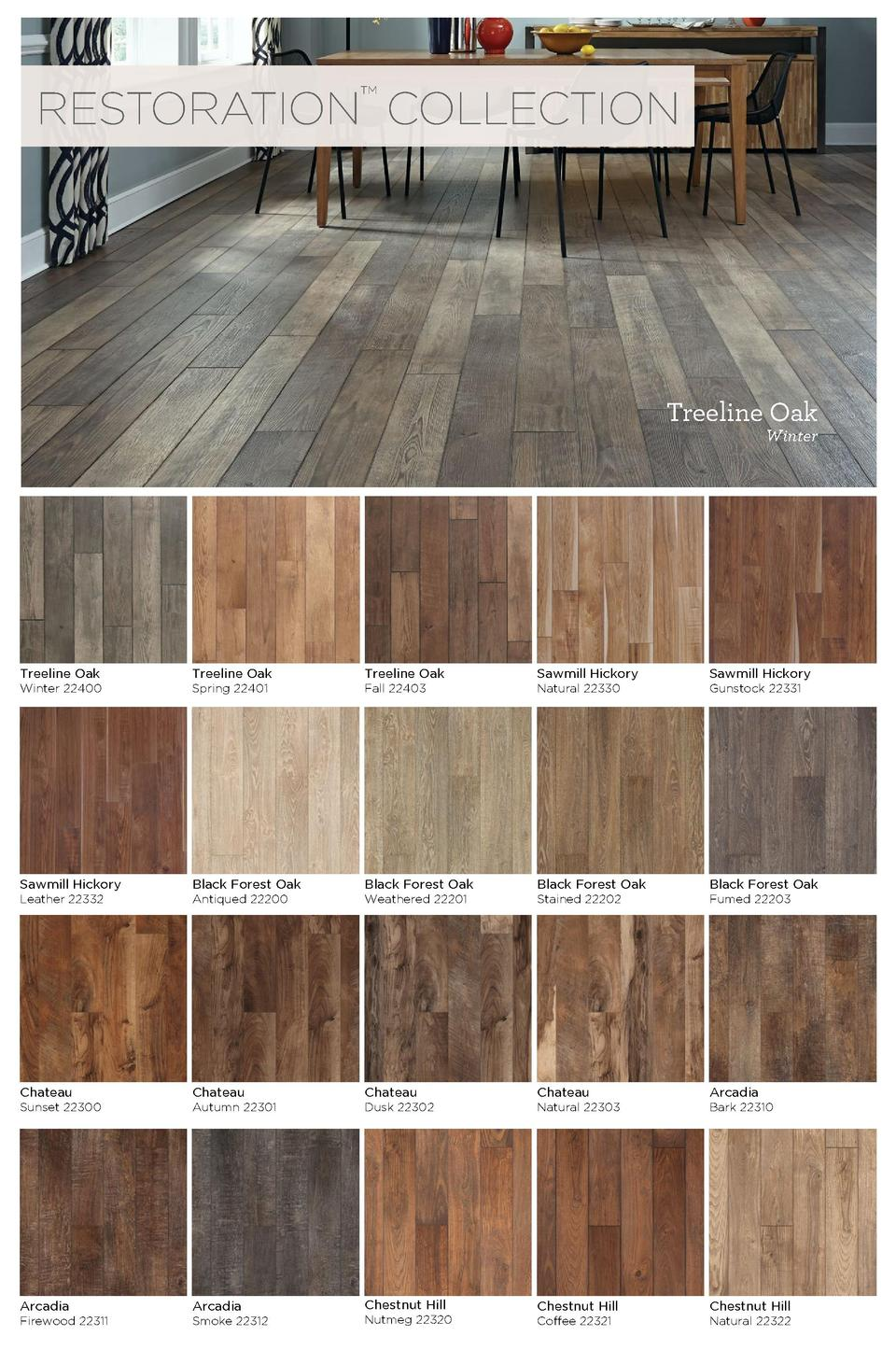 Mannington laminate 2015 catal for Liquid lino floor paint
