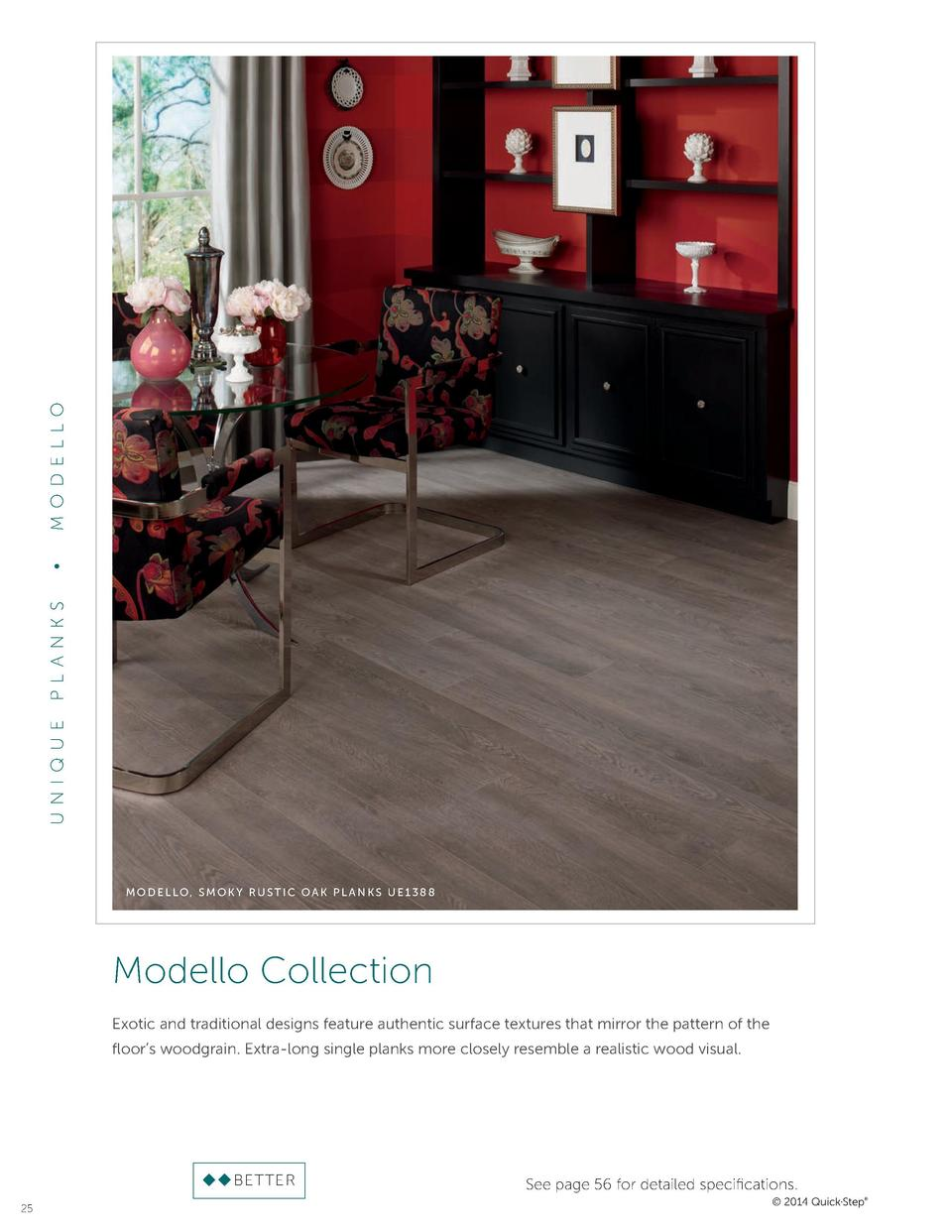 M OD EL LO     P L A NKS UN I QUE  MODELLO, SMOKY RUSTIC OAK PL ANKS UE1388  Modello Collection Exotic and traditional des...