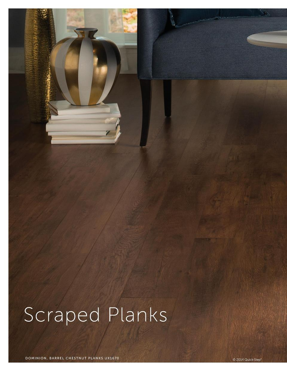 Scraped Planks DOMINION, BARREL CHESTNUT PLANKS UX1670     2014 Quick Step