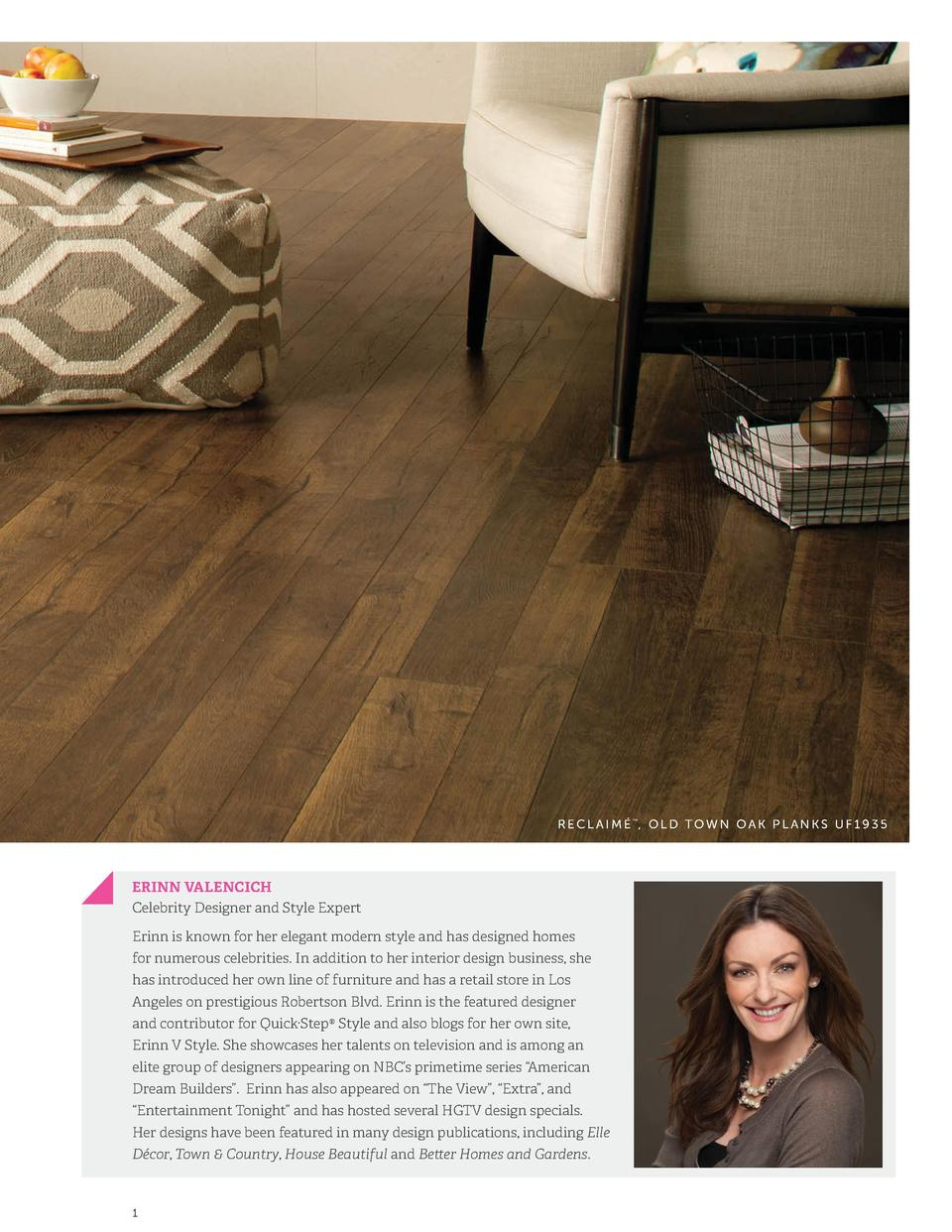RECLAIM   , OLD TOWN OAK PLANKS UF1935      ERINN VALENCICH Celebrity Designer and Style Expert Erinn is known for her ele...