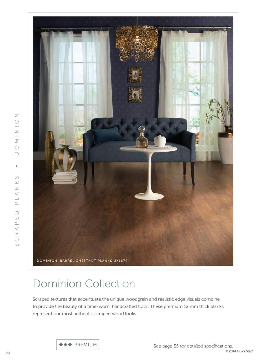 D OM I NI O N     P L A NKS S CRA P ED  DOMINION, BARREL CHESTNUT PLANKS UX1670  Dominion Collection Scraped textures that...