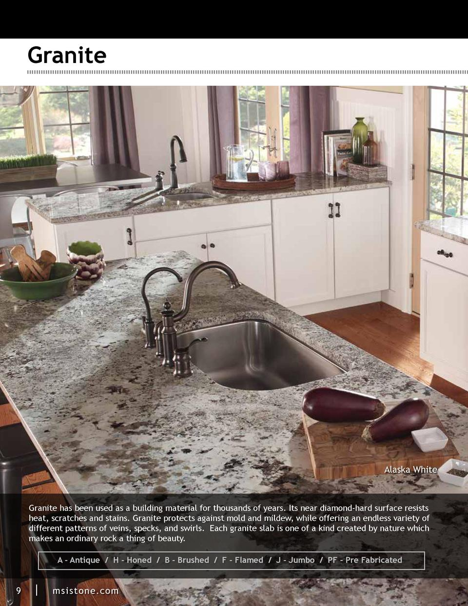 Granite  Alaska White  Granite has been used as a building material for thousands of years. Its near diamond-hard surface ...