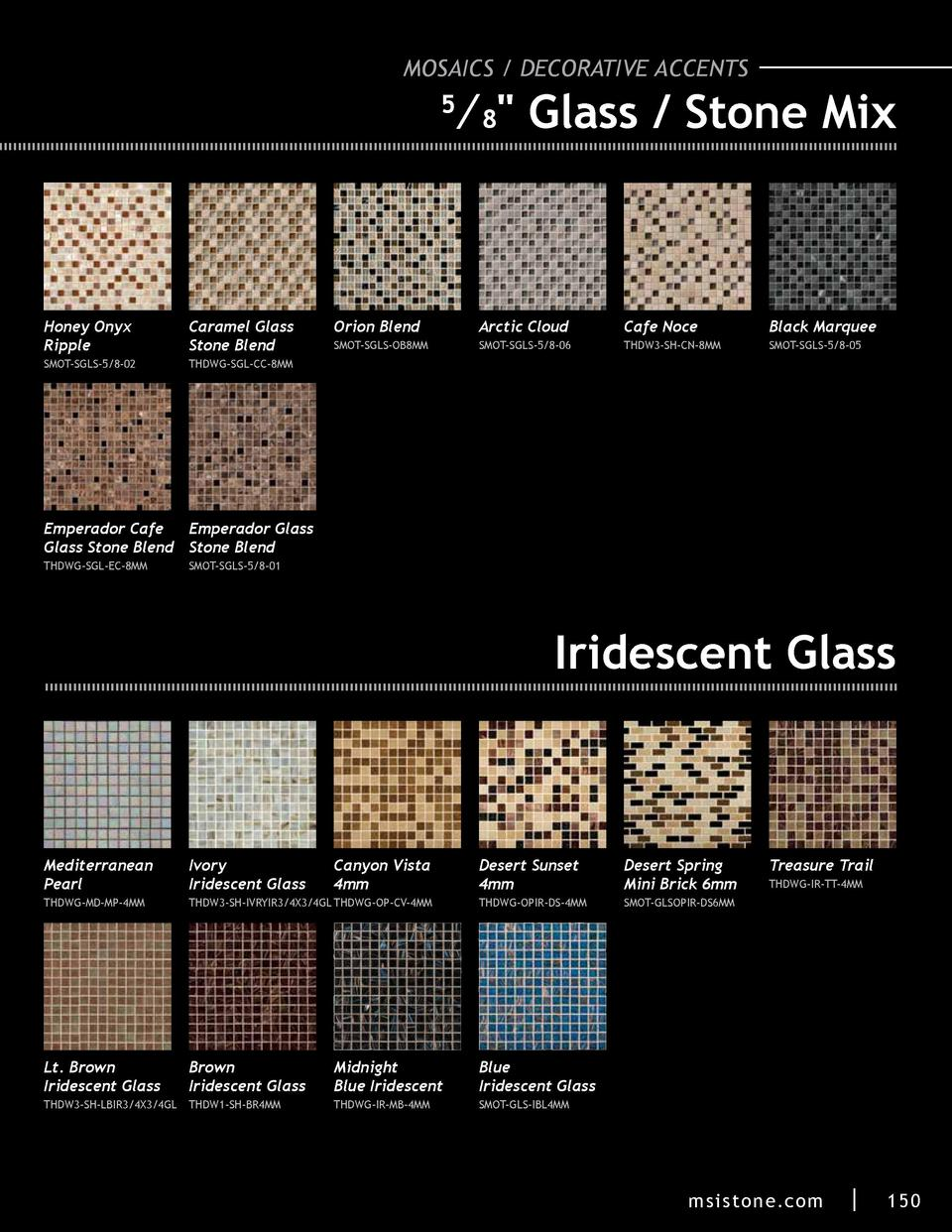 MOSAICS   DECORATIVE ACCENTS     8  Glass   Stone Mix  5  Honey Onyx Ripple  Caramel Glass Stone Blend  SMOT-SGLS-5 8-02  ...