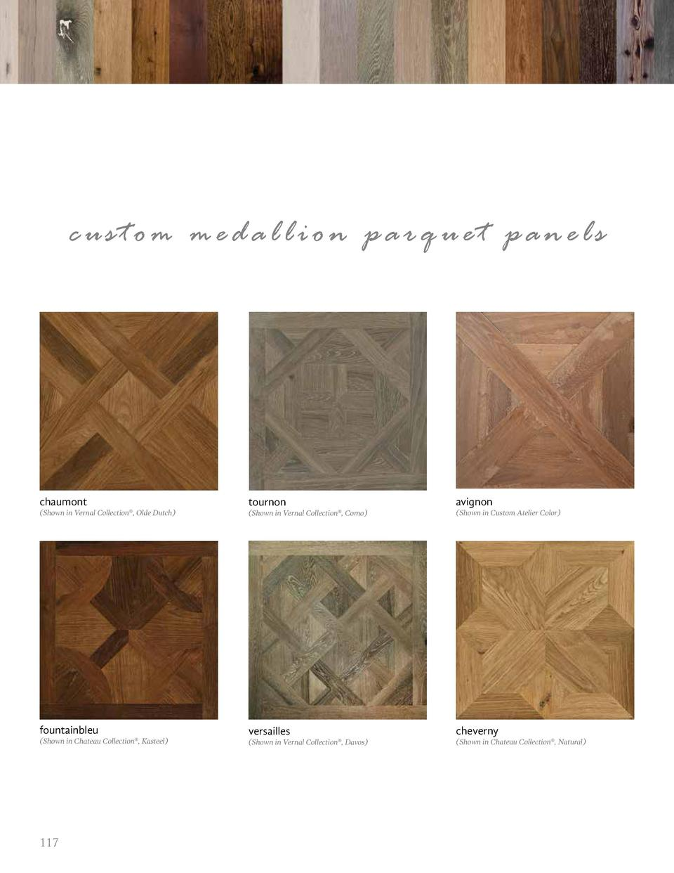 custom medallion parquet panels  chaumont  tournon  avignon   Shown in Vernal Collection  , Olde Dutch    Shown in Vernal ...