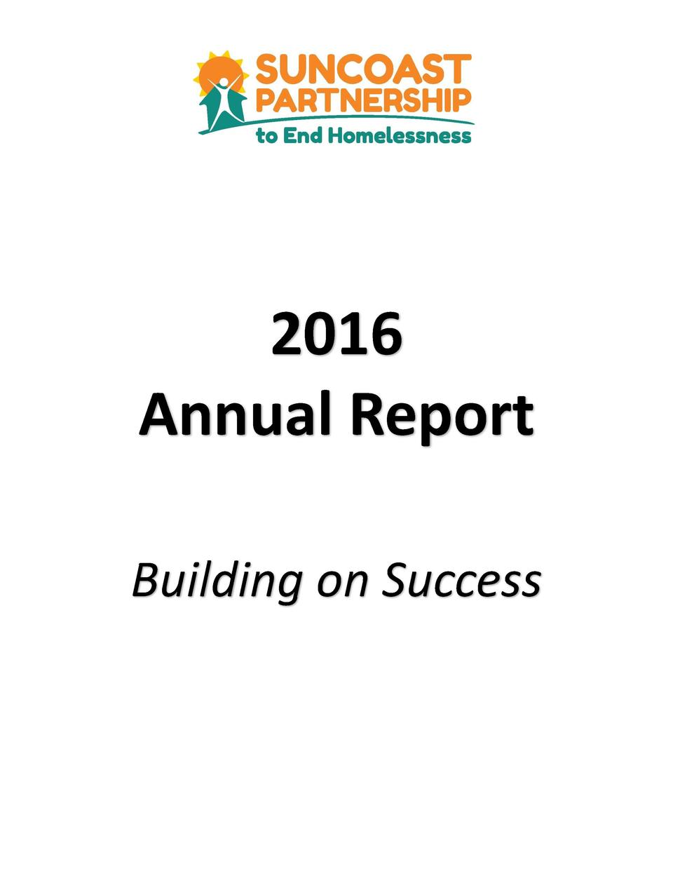 2016 Annual Report Building on Success  Annual Report 2016