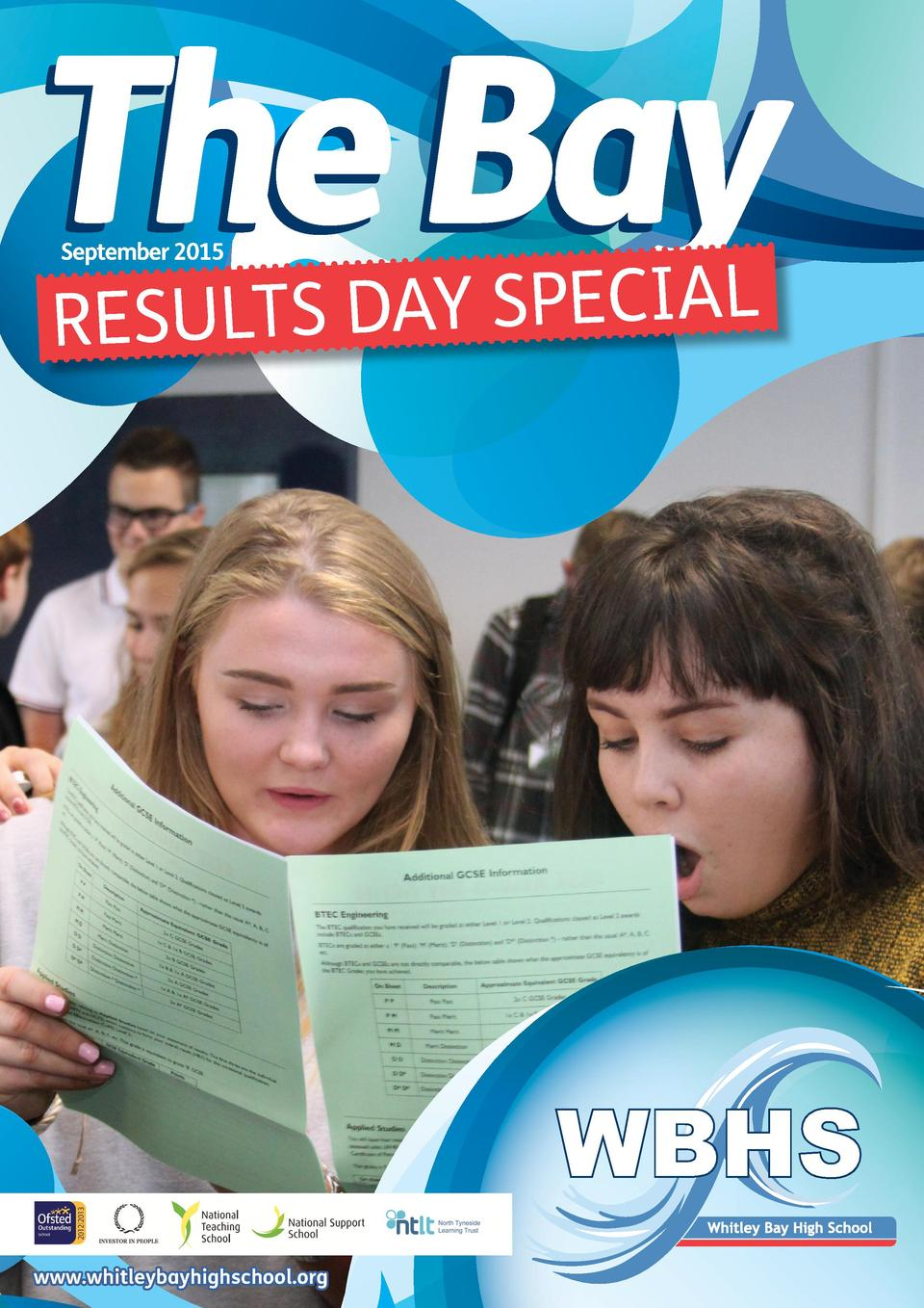 The Bay September 2015  S DAY SPECIAL RESULT  www.whitleybayhighschool.org
