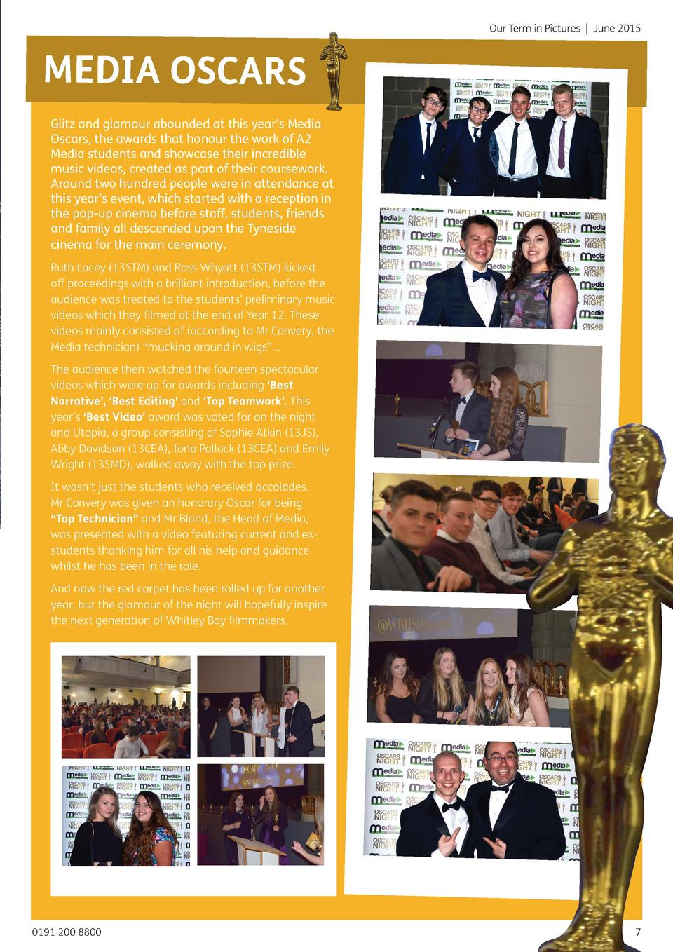 Our Term in Pictures   June 2015  MEDIA OSCARS Glitz and glamour abounded at this year   s Media Oscars, the awards that h...