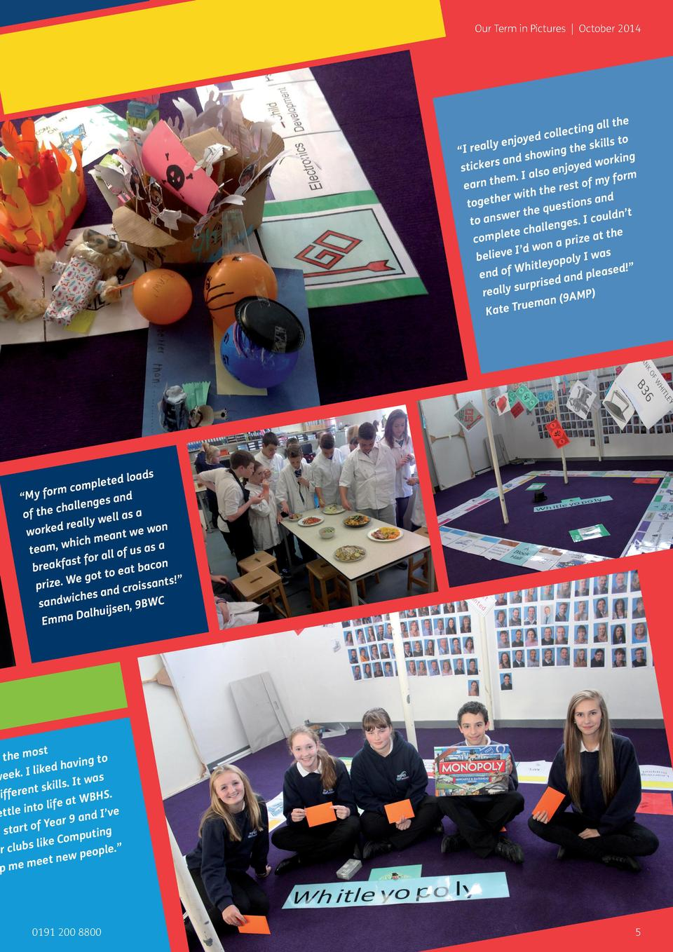 Our Term in Pictures   October 2014  the ing all collect ed o y enjoy skills t    I reall ing the how ing s and s d work s...
