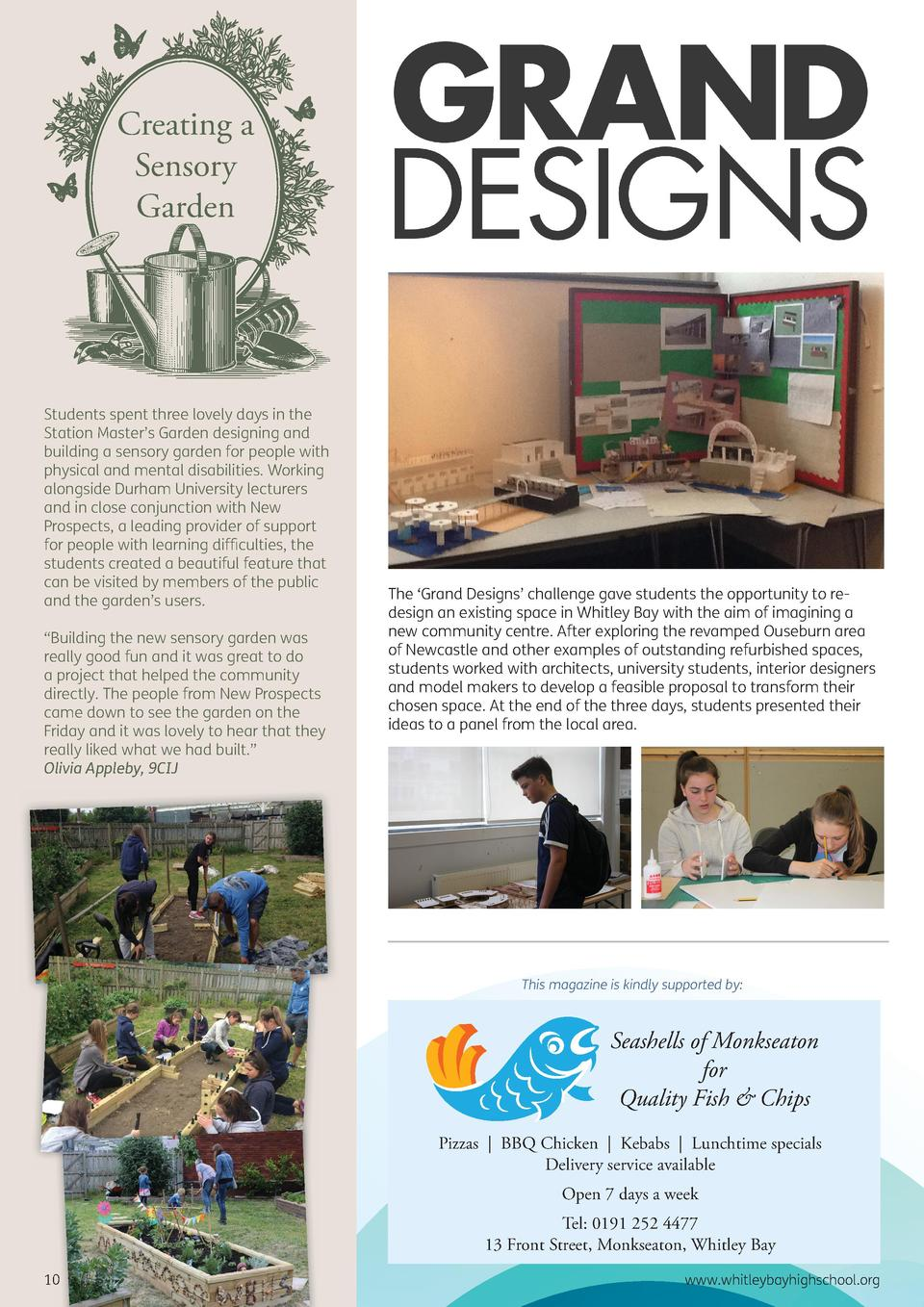 Creating a Sensory Garden  Students spent three lovely days in the Station Master   s Garden designing and building a sens...