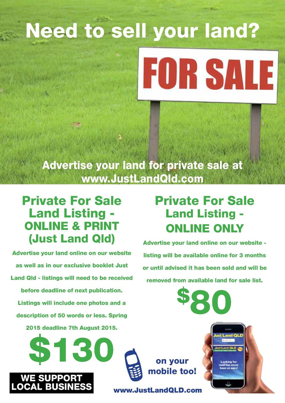 Need to sell your land   Advertise your land for private sale at www.JustLandQld.com  Private For Sale Land Listing -  Pri...