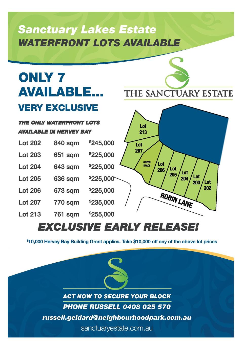 Sanctuary Lakes Estate WATERFRONT LOTS AVAILABLE  ACT NOW TO SECURE YOUR BLOCK  PHONE RUSSELL 0408 025 570 russell.geldard...