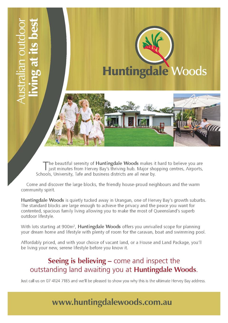 Australian outdoor living at its best  T  he beautiful serenity of Huntingdale Woods makes it hard to believe you are just...