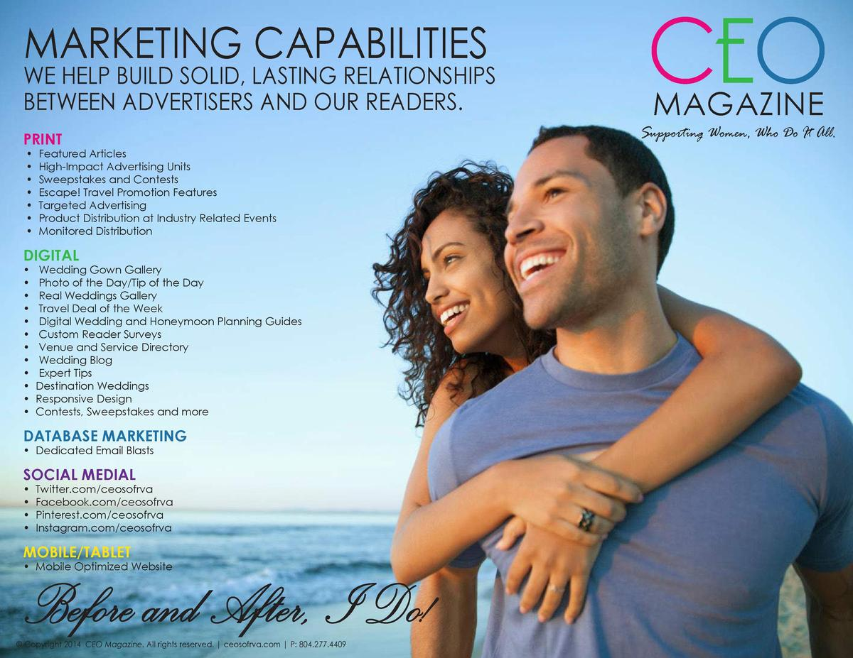 MARKETING CAPABILITIES  WE HELP BUILD SOLID, LASTING RELATIONSHIPS BETWEEN ADVERTISERS AND OUR READERS. PRINT             ...