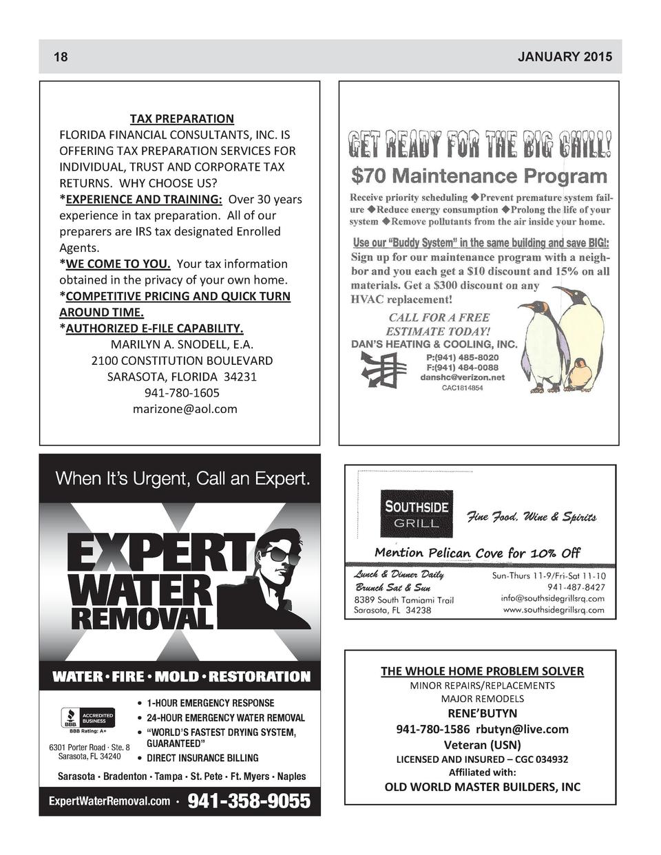 Pelican Cove News January 2015 Simplebooklet Com