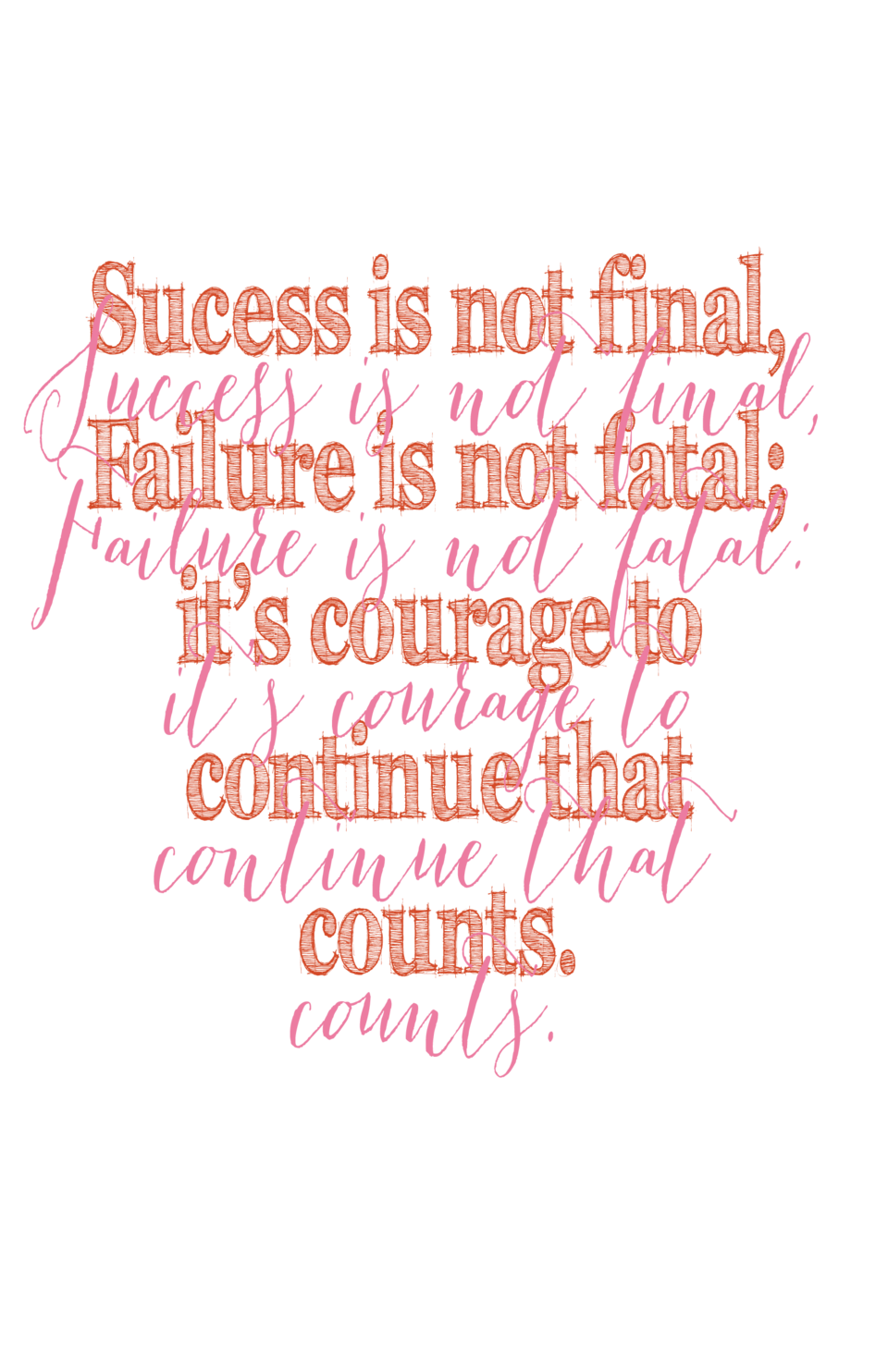 Sucess is not final, is not final, Success Failureis not fatal  is not fatal  Failure it   s courage to to it   s courage ...