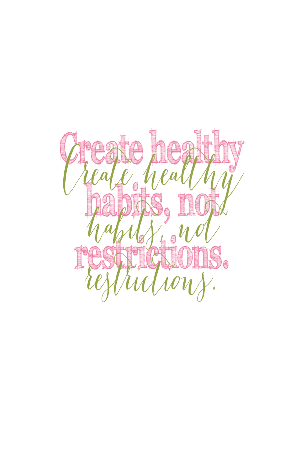 Createhealthy healthy Create habits, not habits, not restrictions. restrictions.
