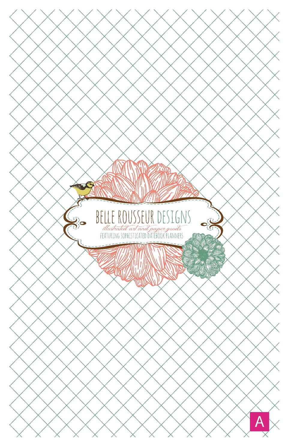 belle rousseur designs illustrated art and paper goods  featuring sophisticated datebook planners  A