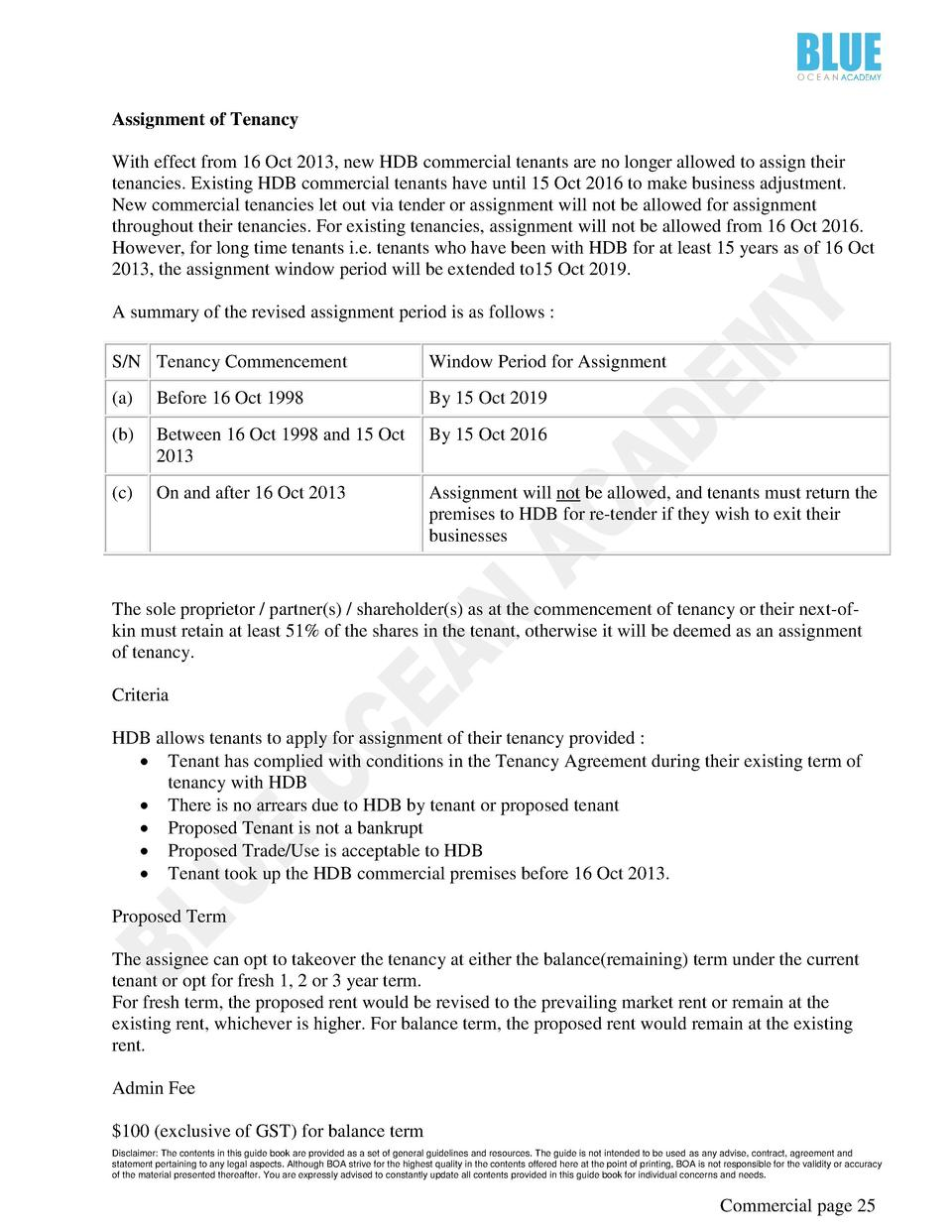 Tenancy Agreement Singapore Template