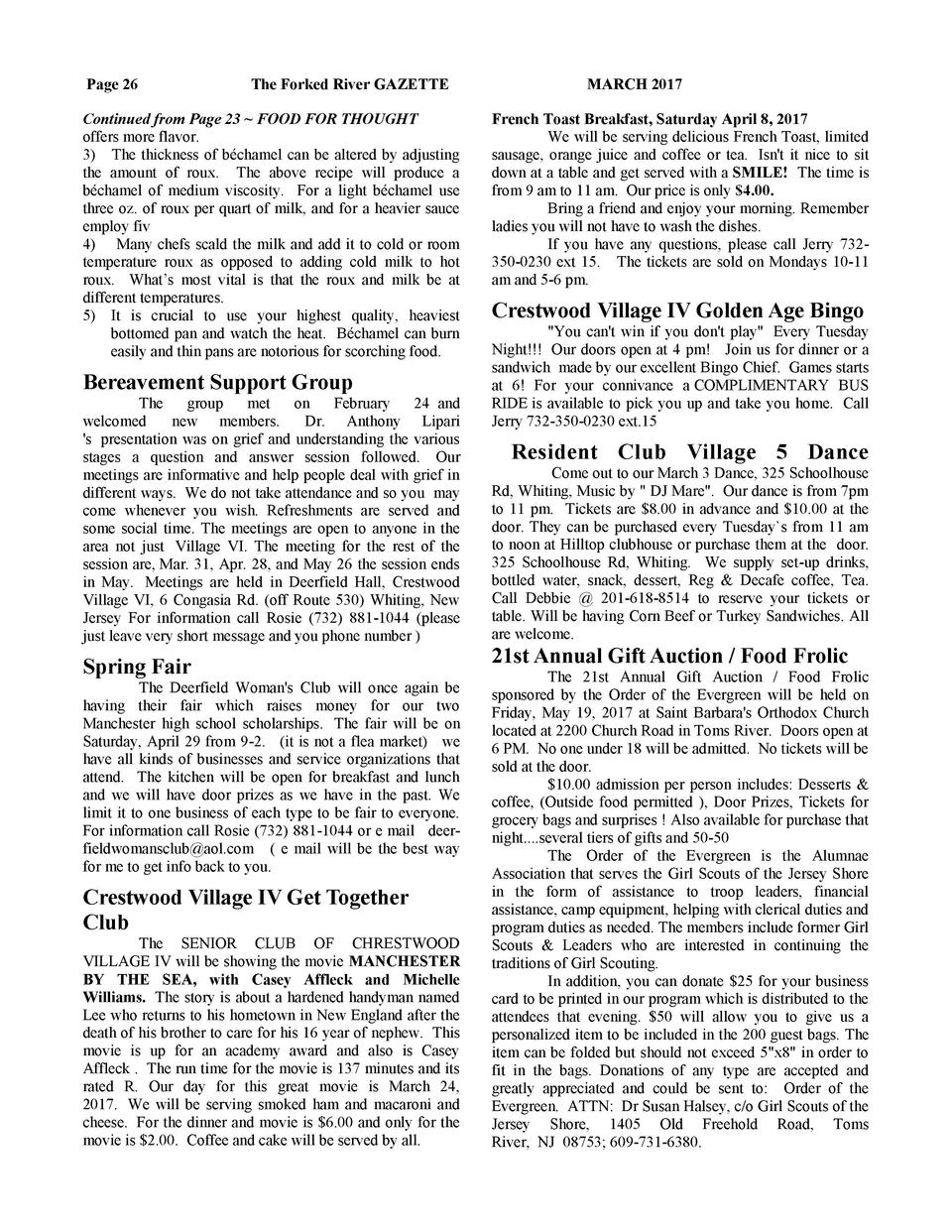 Page 26  The Forked River GAZETTE  Continued from Page 23   FOOD FOR THOUGHT offers more flavor. 3  The thickness of b  ch...
