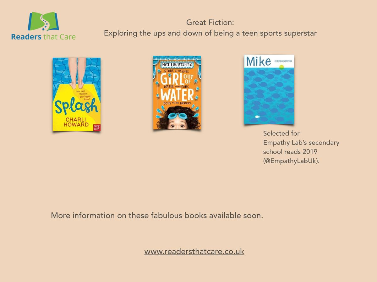 Great Fiction  Exploring the ups and down of being a teen sports superstar  Selected for Empathy Lab   s secondary school ...
