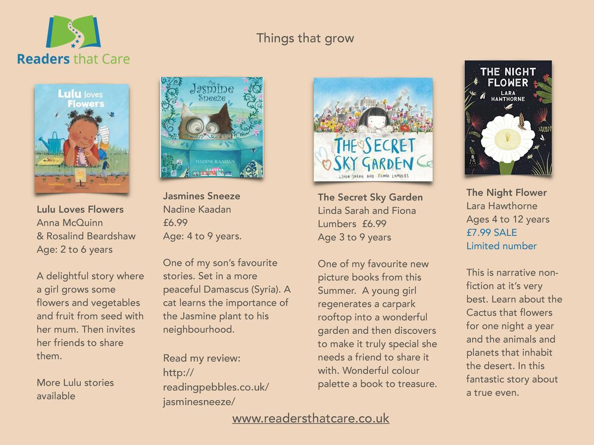 Things that grow  Lulu Loves Flowers Anna McQuinn   Rosalind Beardshaw Age  2 to 6 years A delightful story where a girl g...