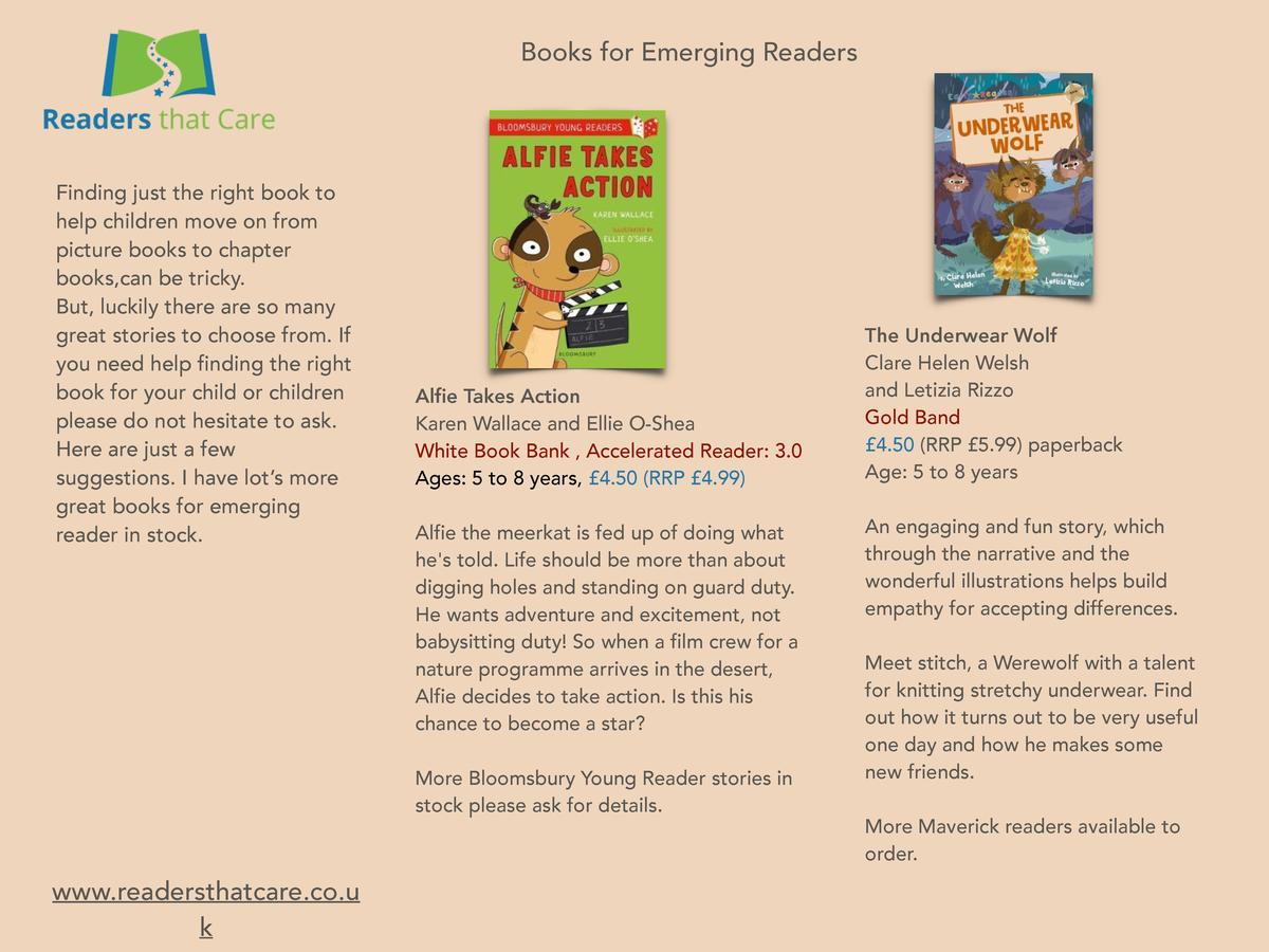 Books for Emerging Readers  Finding just the right book to help children move on from picture books to chapter books,can b...
